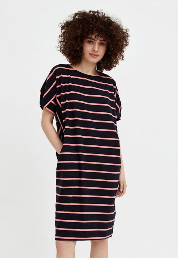 женское платье-футболки finn flare, черное