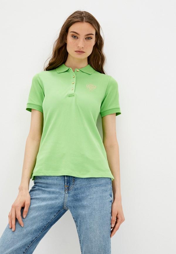 женское поло baon, зеленое