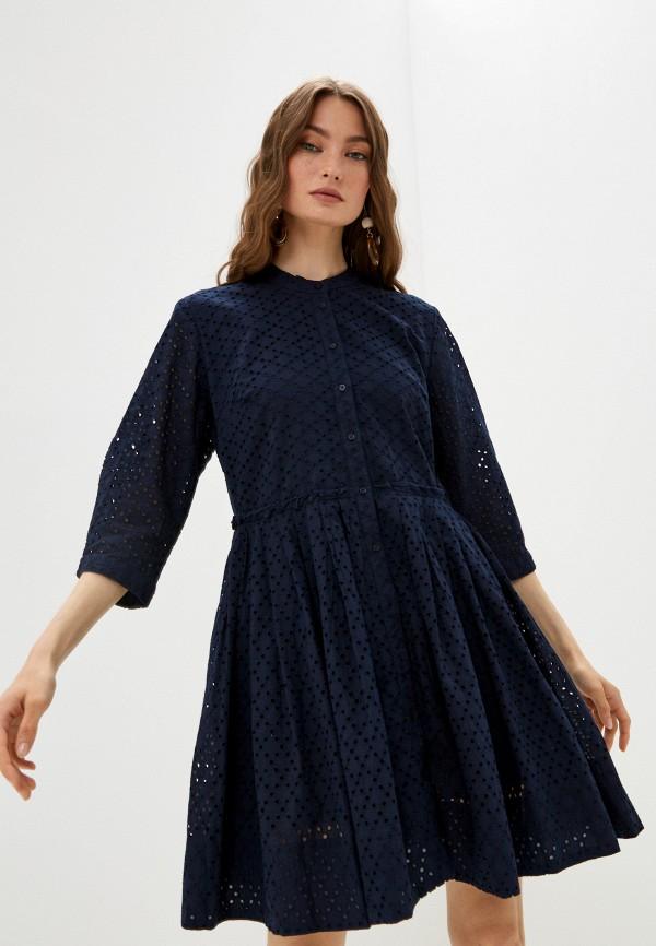 женское платье-рубашки baon, синее