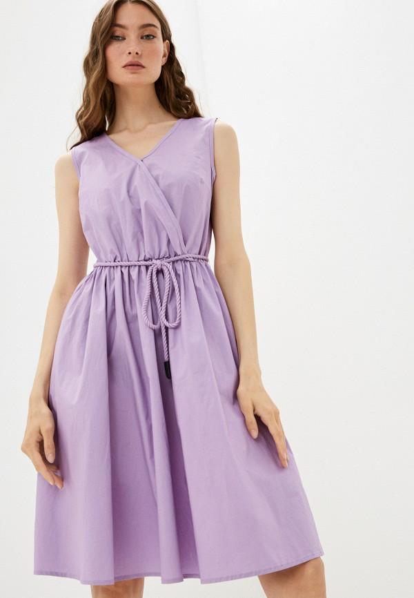 женское платье с запахом baon, фиолетовое
