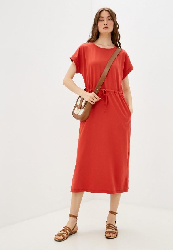 женское повседневные платье baon, красное