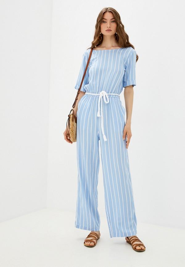 женский комбинезон с брюками baon, голубой