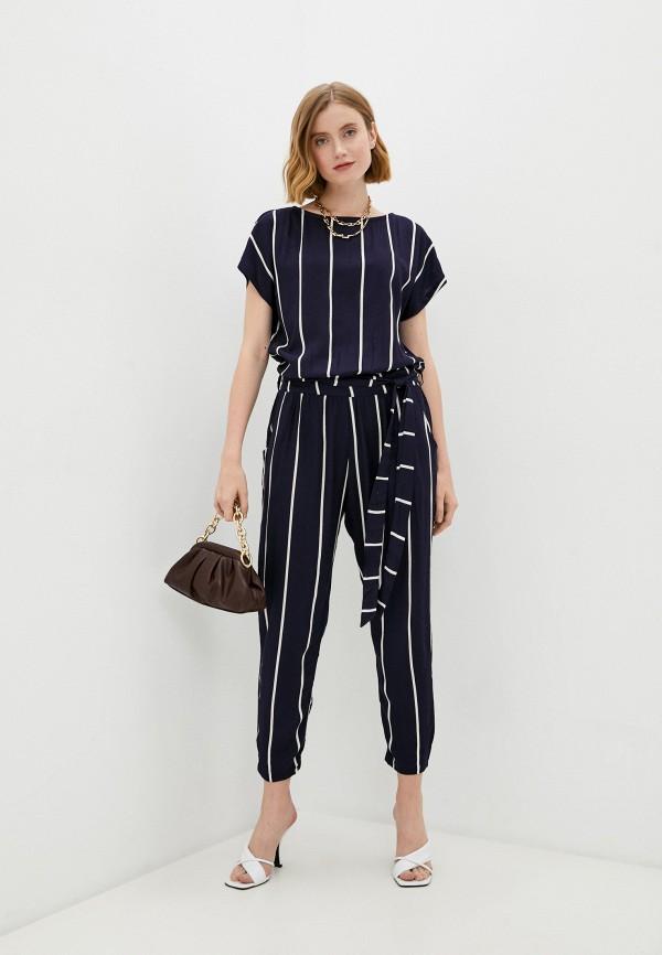 женский комбинезон с брюками baon, синий
