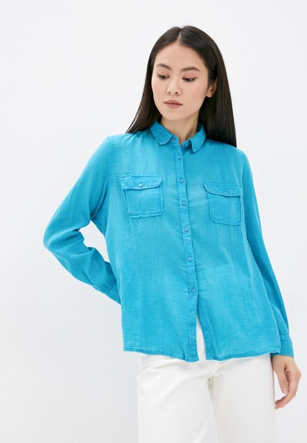Рубашка Mavi бирюзового цвета
