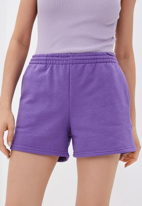 женские спортивные шорты algorythm, фиолетовые