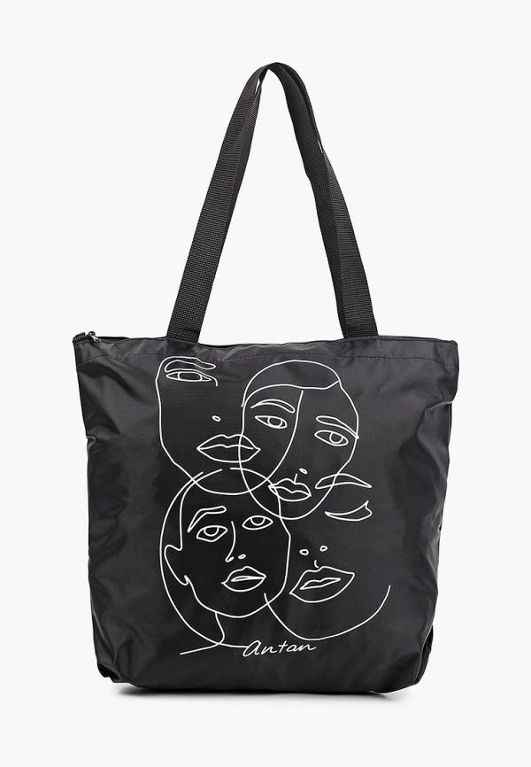 женская сумка-шоперы antan, черная