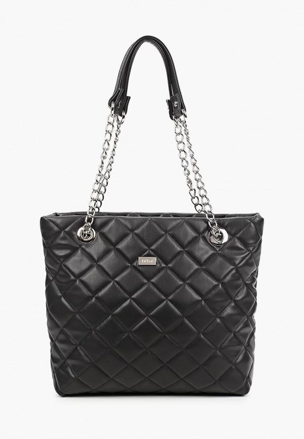 женская сумка с ручками antan, черная