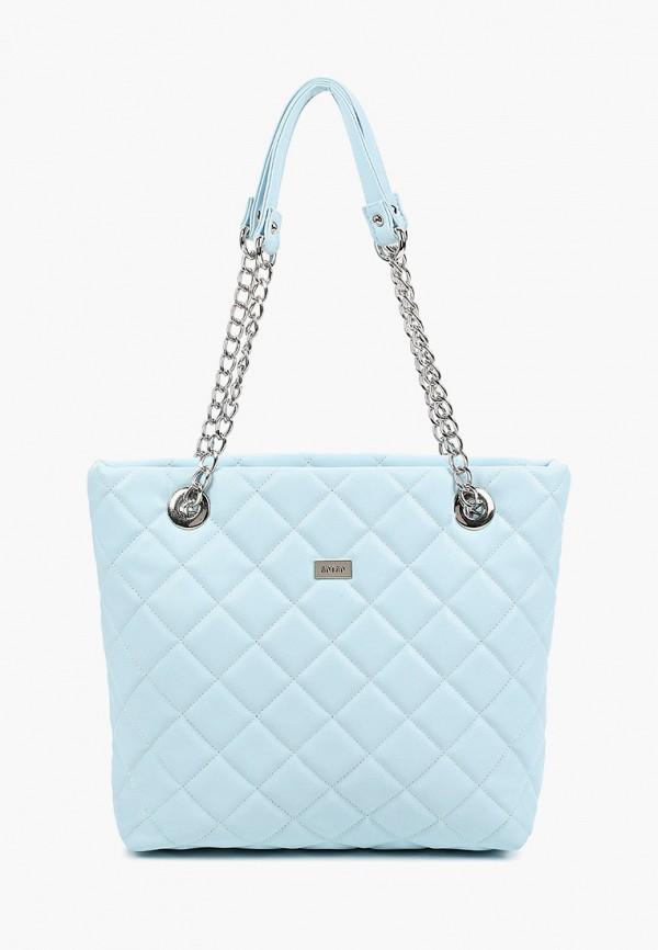 женская сумка с ручками antan, голубая