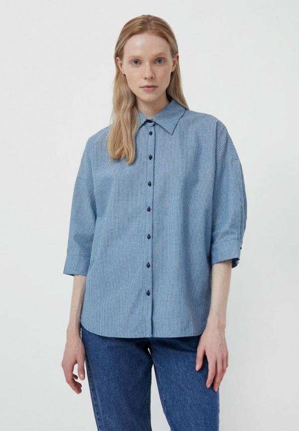 Рубашка Finn Flare синего цвета