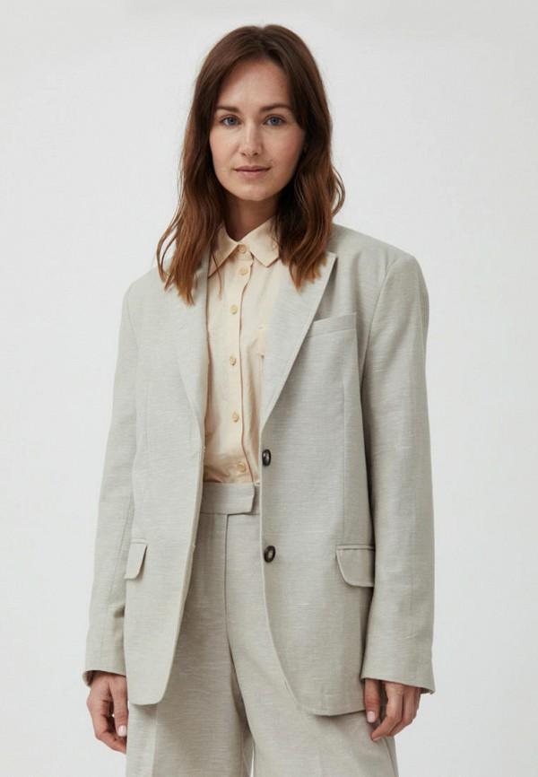 женский пиджак finn flare, бежевый