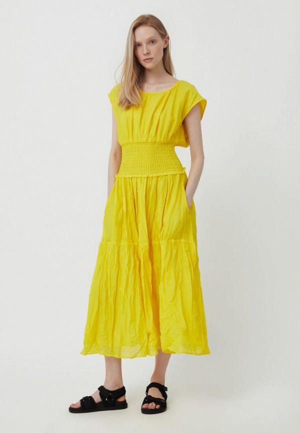 женское повседневные платье finn flare, желтое