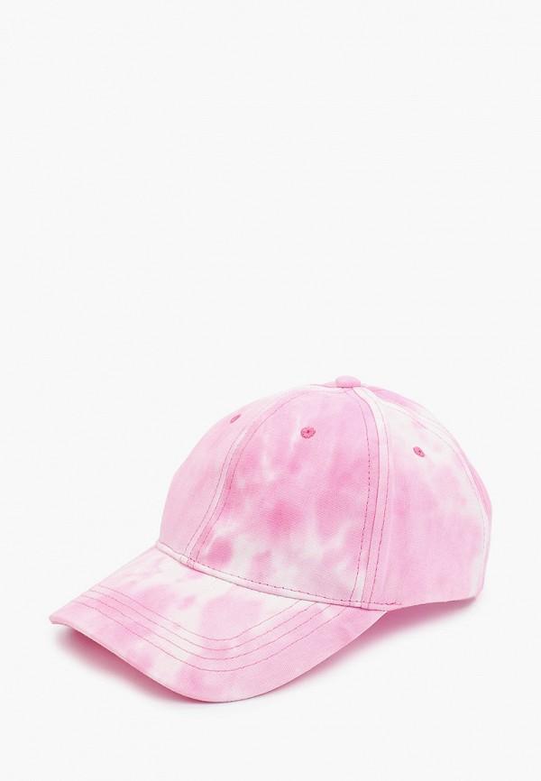 женская бейсболка befree, розовая