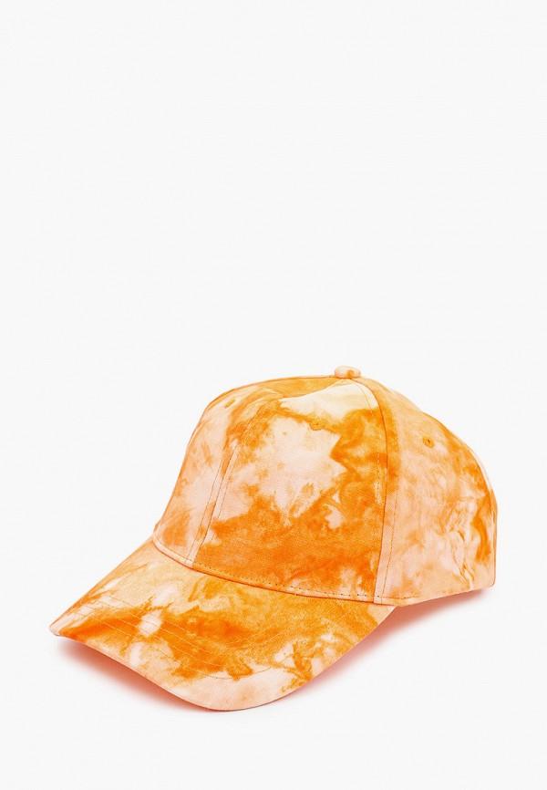 женская бейсболка befree, оранжевая