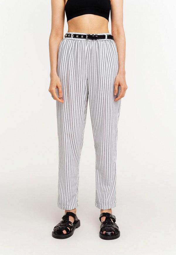 женские брюки джоггеры befree, белые