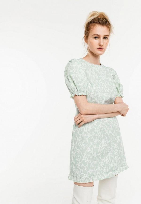 женское повседневные платье befree, зеленое