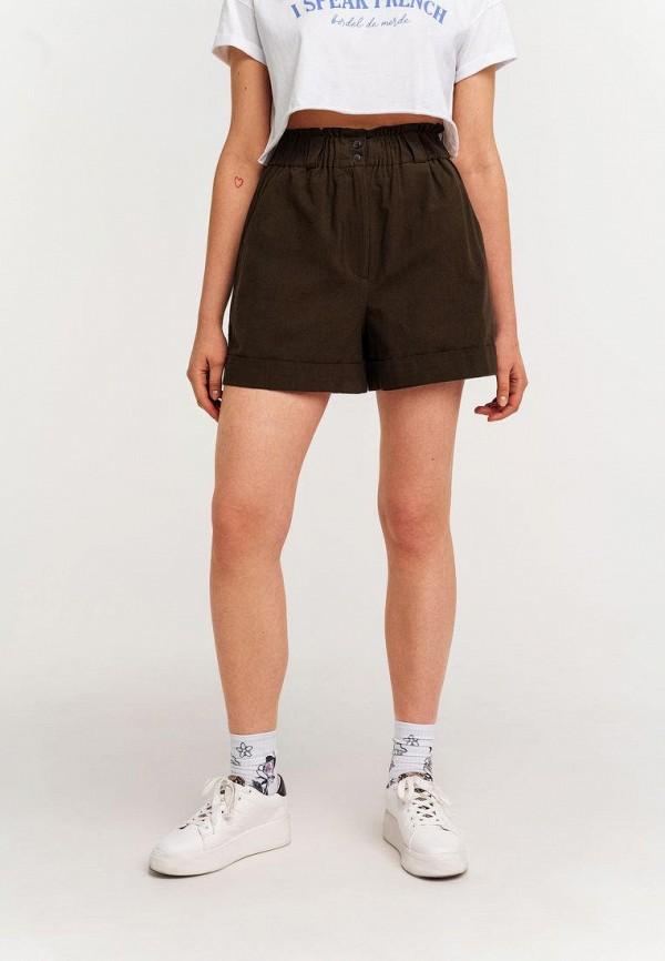женские повседневные шорты befree, коричневые