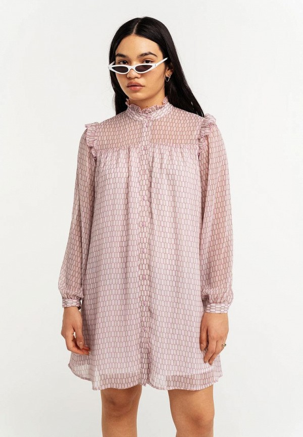 женское платье-рубашки befree, розовое