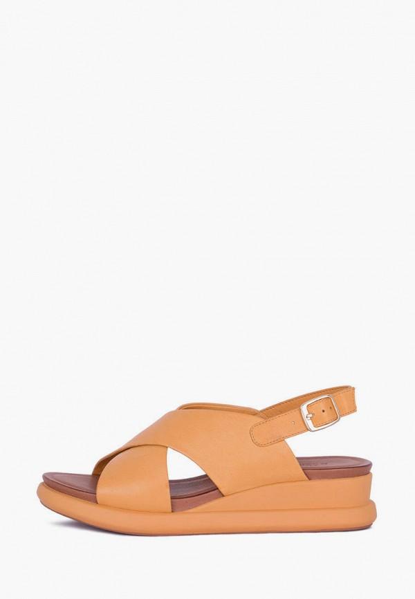 женские сандалии tj collection, оранжевые