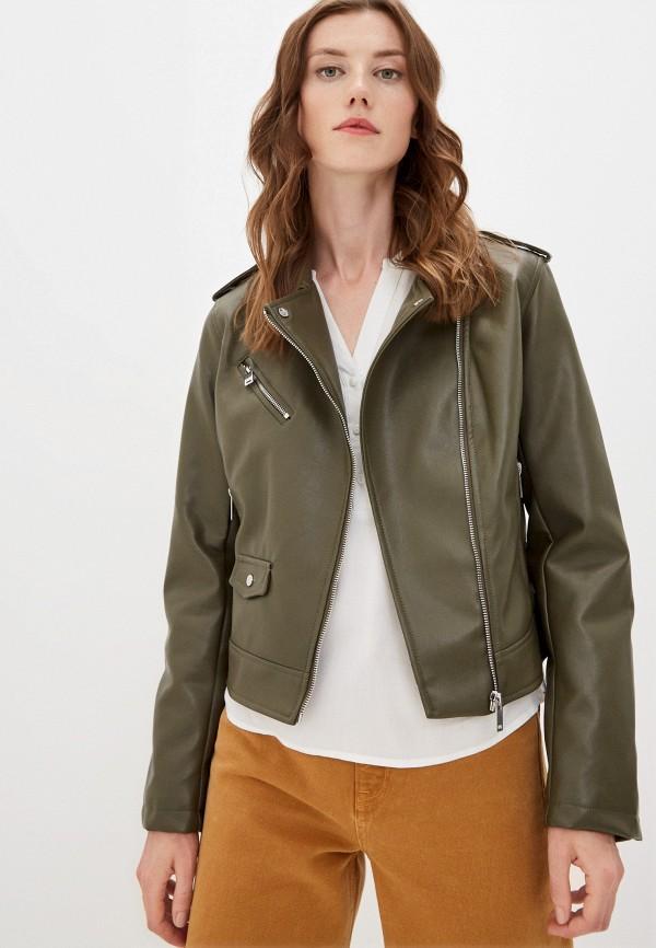 женская куртка косухи befree, хаки