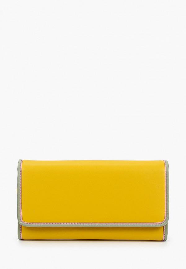 женский кошелёк russian look, желтый