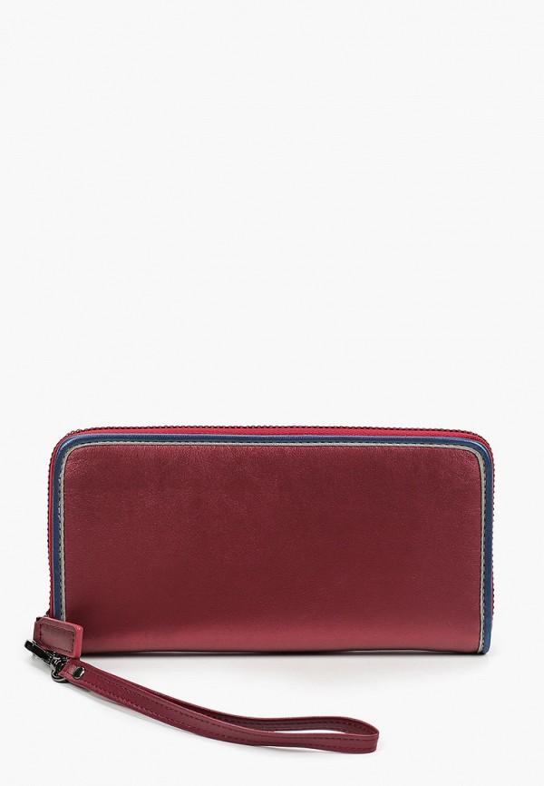 женский кошелёк russian look, бордовый