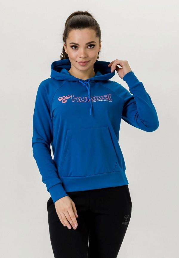 женские худи hummel, синие