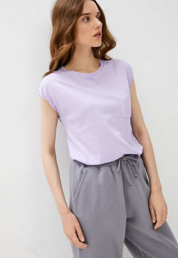 женская футболка intimissimi, фиолетовая