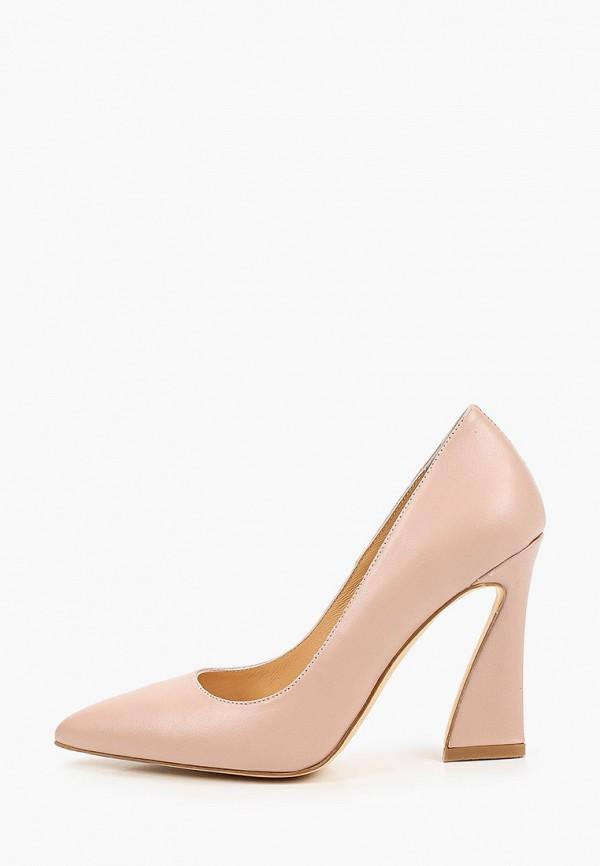 женские туфли с закрытым носом marco bonne', розовые