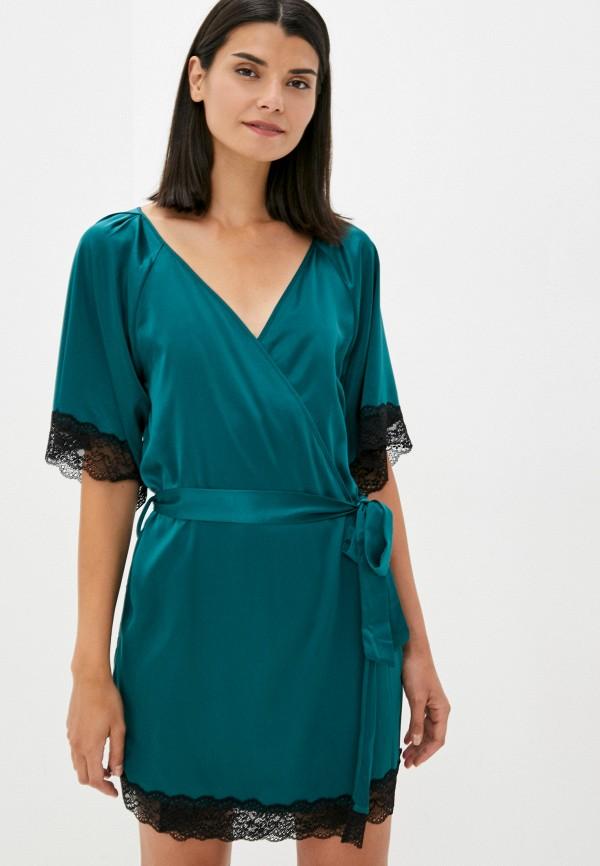 женский халат obsessive, бирюзовый