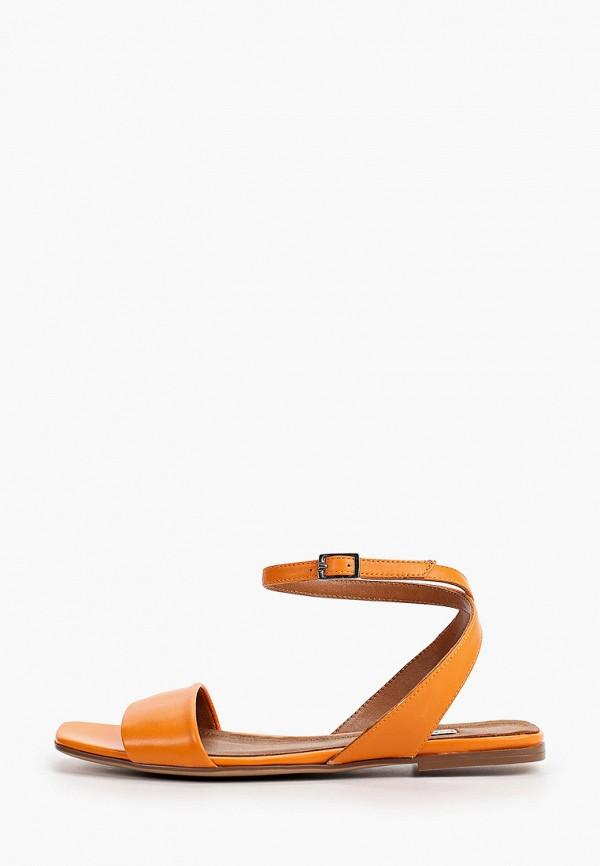женские сандалии marco bonne', оранжевые