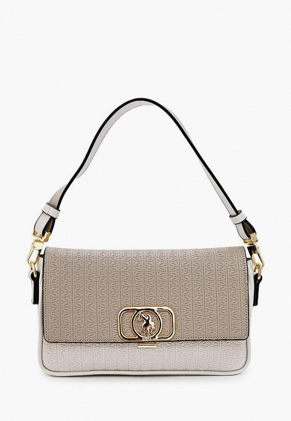 женская сумка u.s. polo assn, серая
