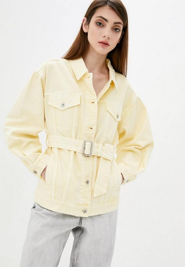 женская джинсовые куртка miss sixty, желтая