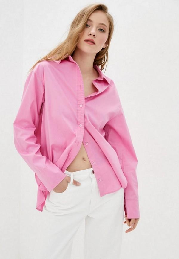 женская рубашка с длинным рукавом evolve, розовая