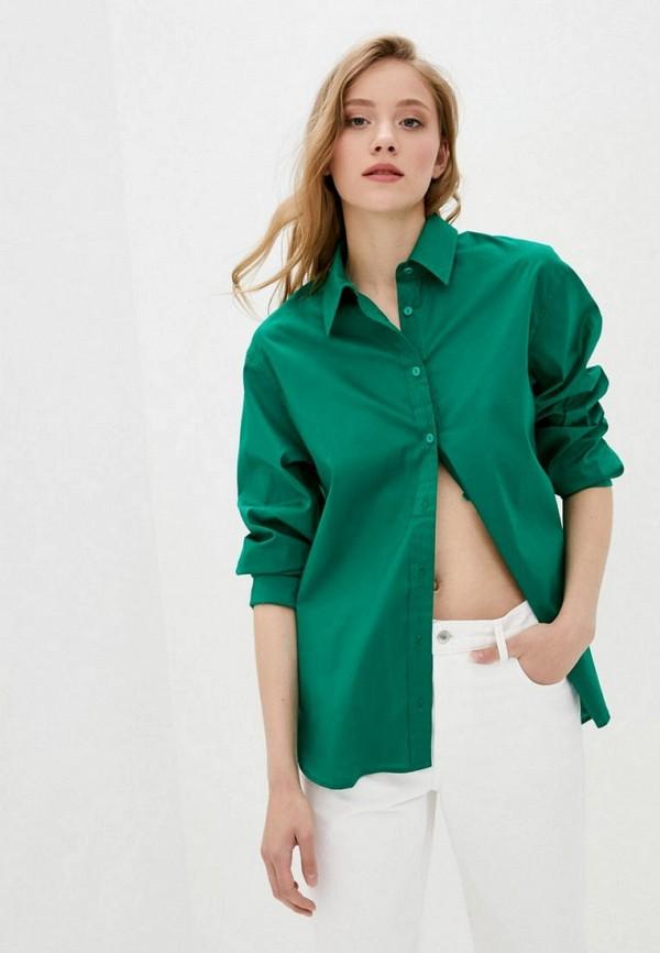 женская рубашка с длинным рукавом evolve, зеленая