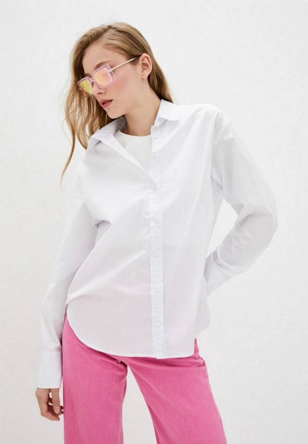 женская рубашка с длинным рукавом evolve, белая