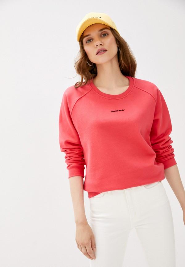 женский свитшот aussie wear, розовый