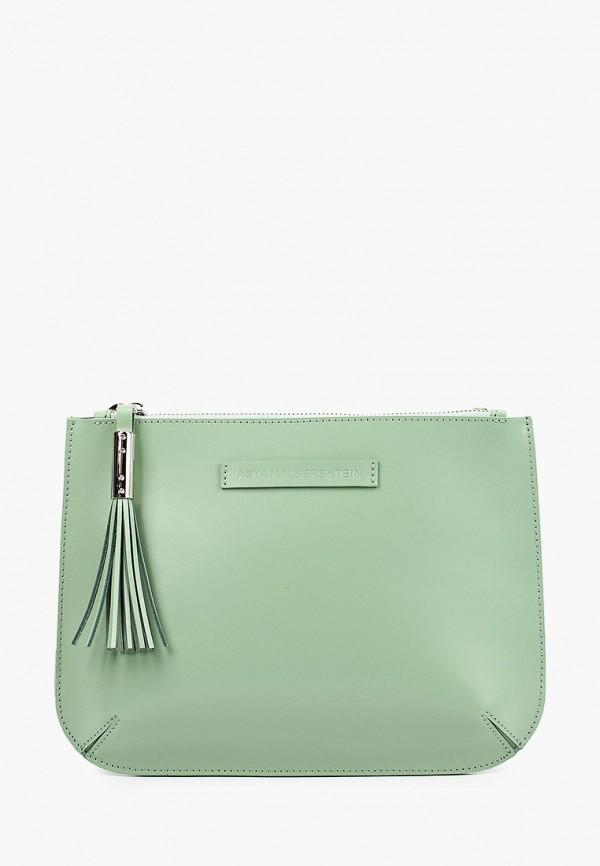 женская сумка через плечо asya malbershtein, зеленая