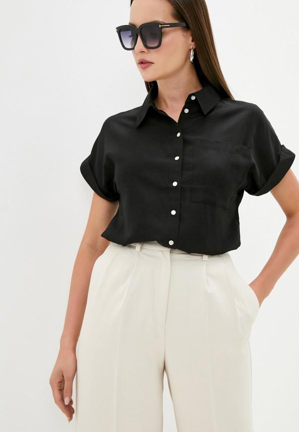 женская блузка с коротким рукавом love republic, черная