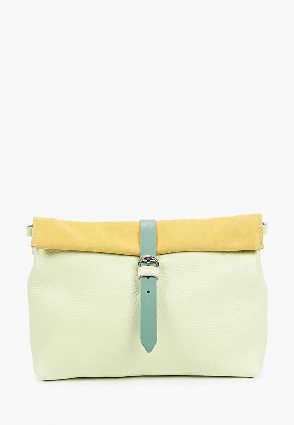 женская сумка через плечо kokosina, зеленая