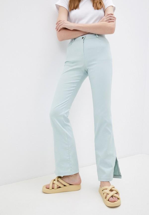 женские брюки клеш mironi, бирюзовые
