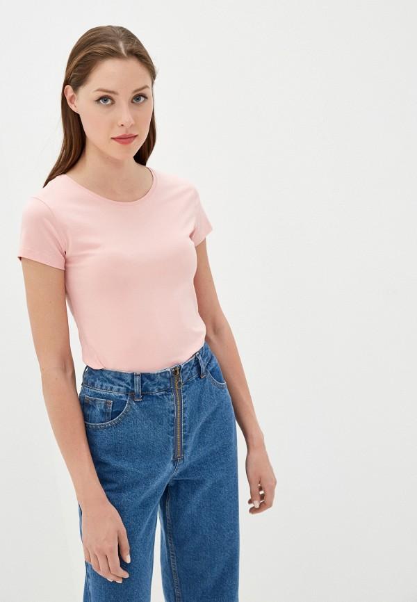 женская футболка vitacci, розовая