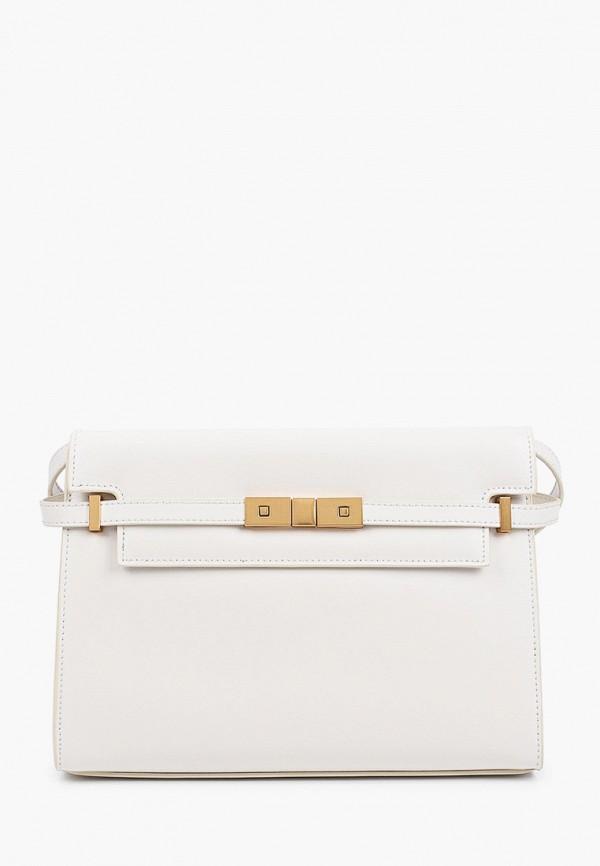 женская сумка через плечо basconi, белая