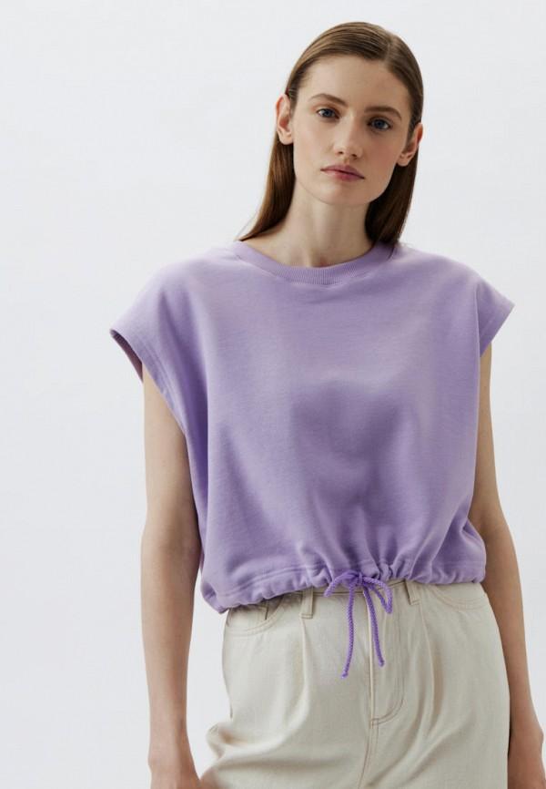 женская футболка antiga, фиолетовая