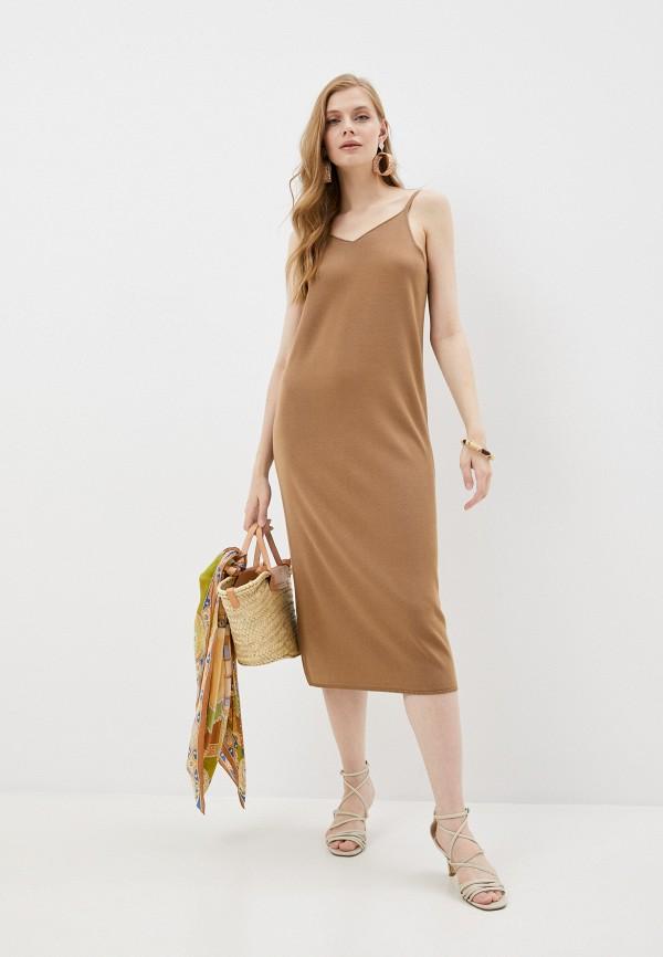 женский сарафан totti, коричневый