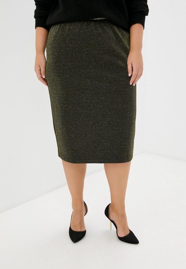 женская прямые юбка lady sharm classic, золотая