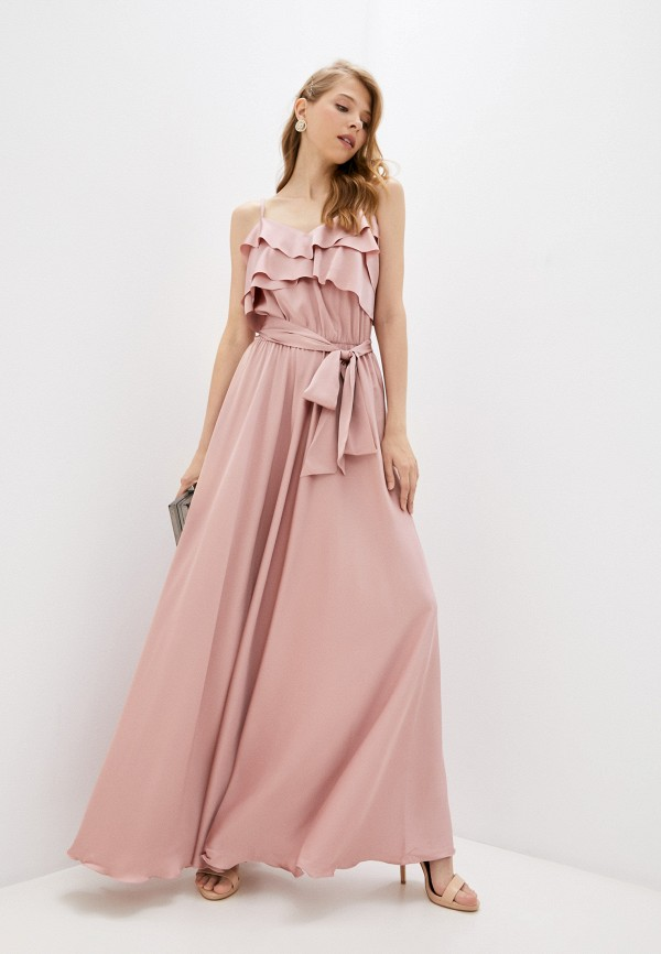 женское вечерние платье seam, розовое