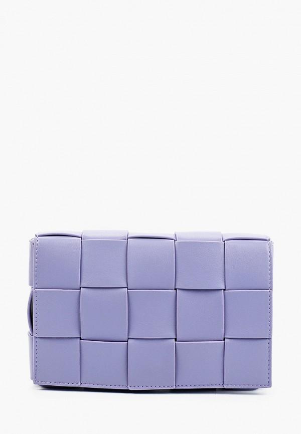женская сумка через плечо marco bonne', фиолетовая