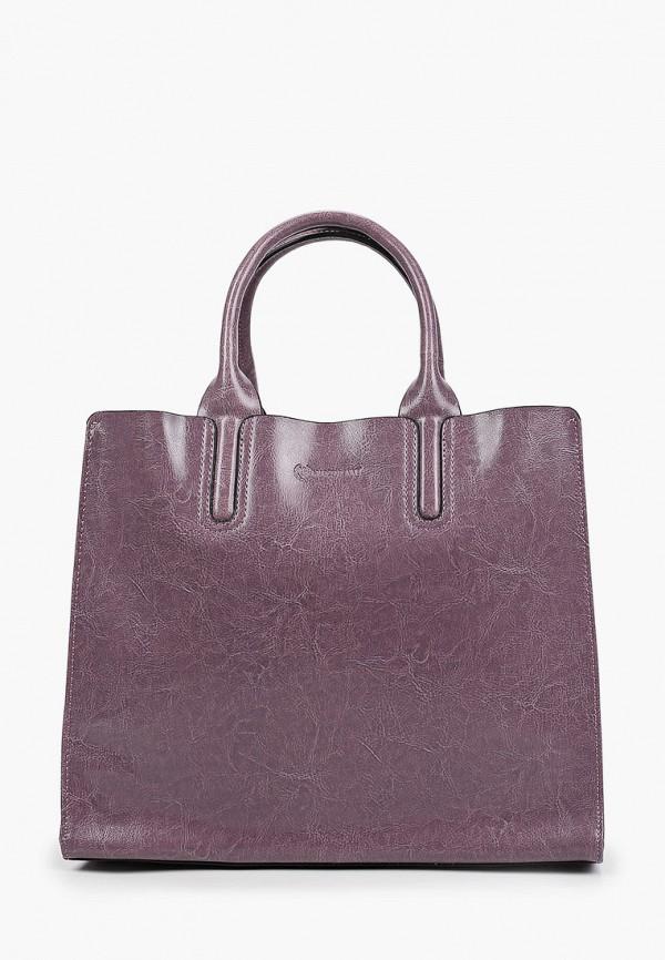 женская сумка с ручками marco bonne', фиолетовая