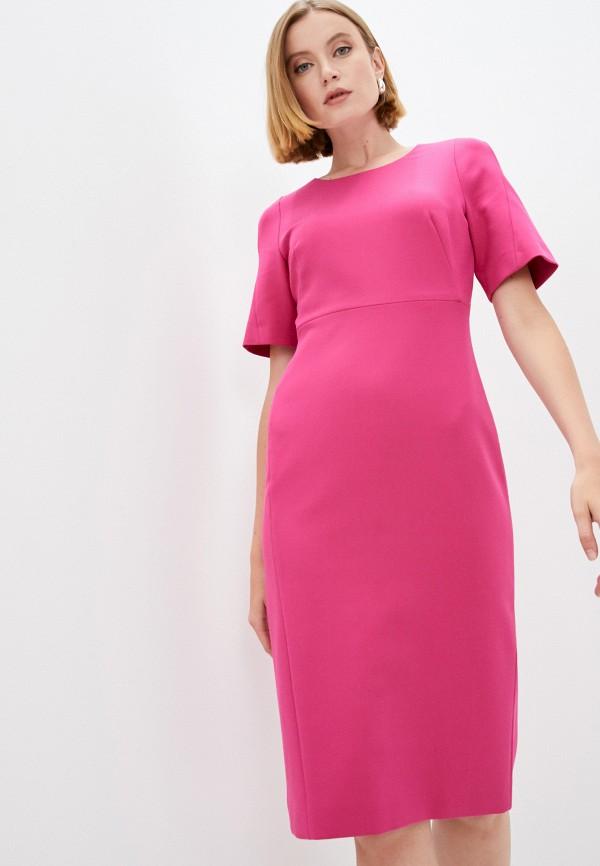 женское платье-футляр boss, розовое