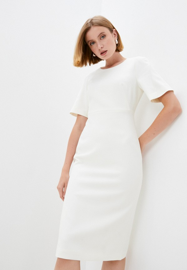 женское платье-футляр boss, бежевое